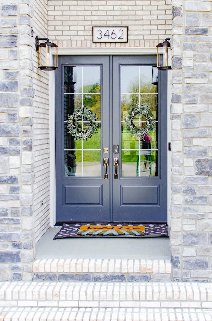 Double French Front Door Modern Boho Chic Entry