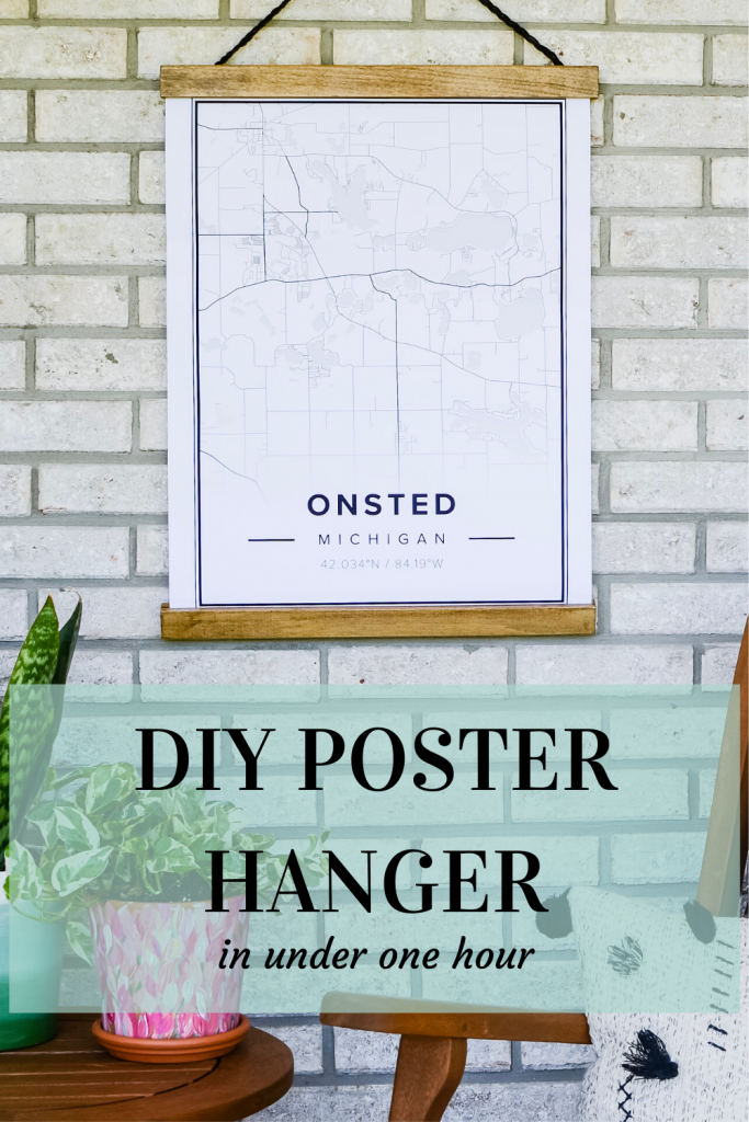 Poster of Onsted, Michigan in easy DIY hanging wood frame.