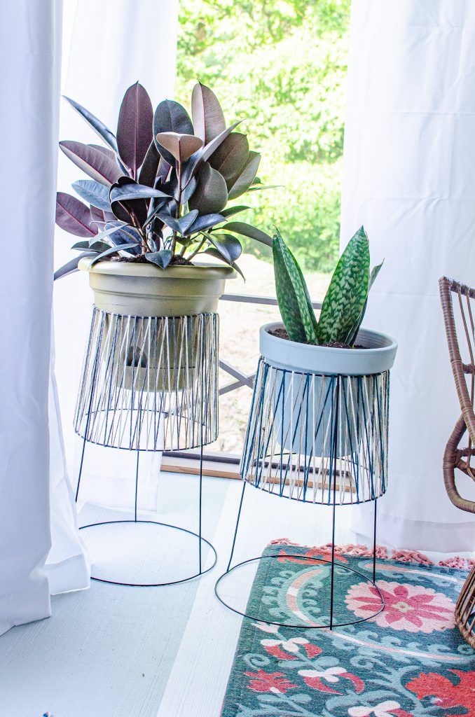 finished diy plant stands