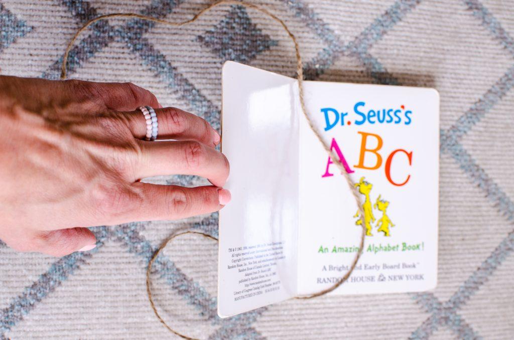 Jute rope wrapped around a book | HauteHouseLove.com