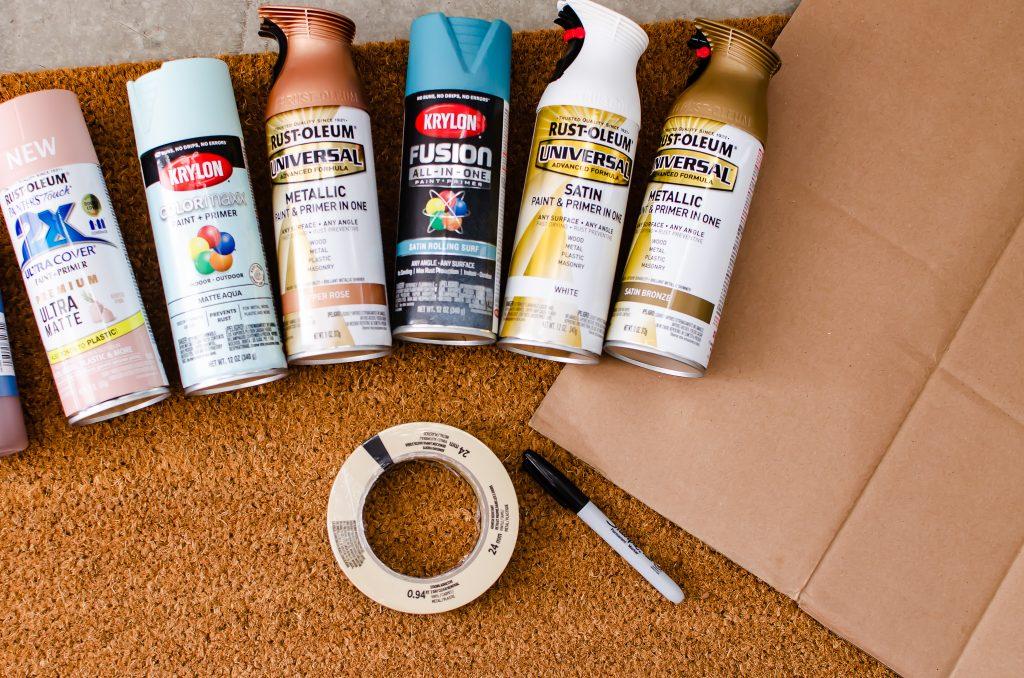 Fall Decor Spray Paint for DIY Doormat