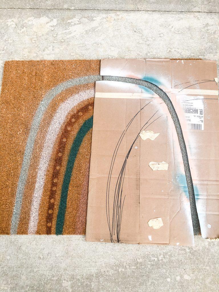 DIY Fall Doormat with Subtle Fall Decor