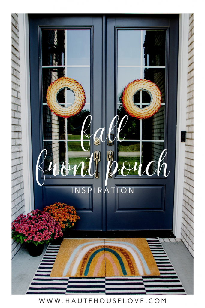 Fall Front Porch with Doormat