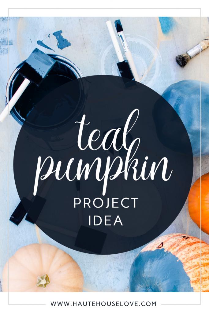 painted pumpkins for teal pumpkin project