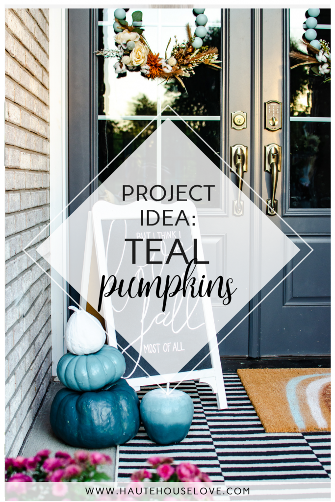painted pumpkins on porch