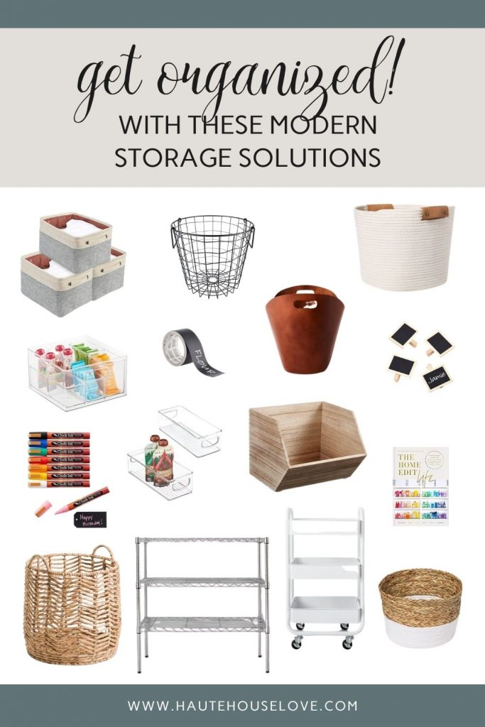 basket and bin roundup for modern storage solutions