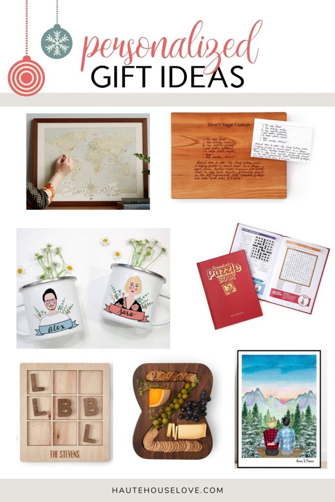 Personalized Christmas gift roundup.