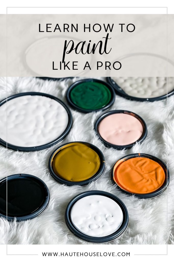 Learn How To Paint Like a Pro Graphic with paint can lids