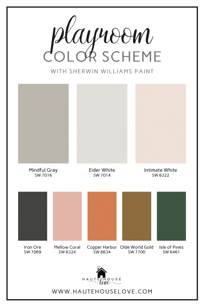Playroom Color Scheme with Sherwin Williams Paint