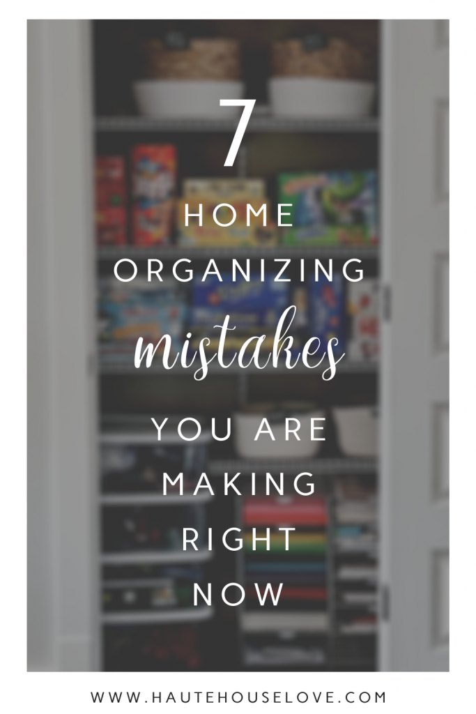 Have you been trying to get your home organized? Before you do, check out these 7 Home Organizing Mistakes You Are Already Making!