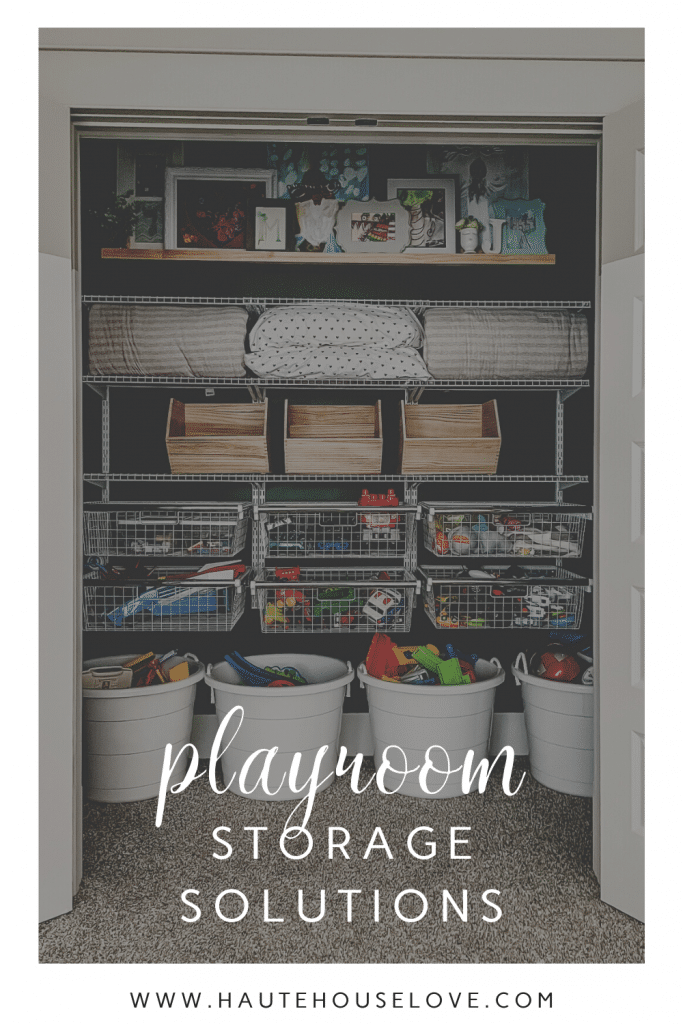 Playroom Storage Solutions with toy storage and closet organization