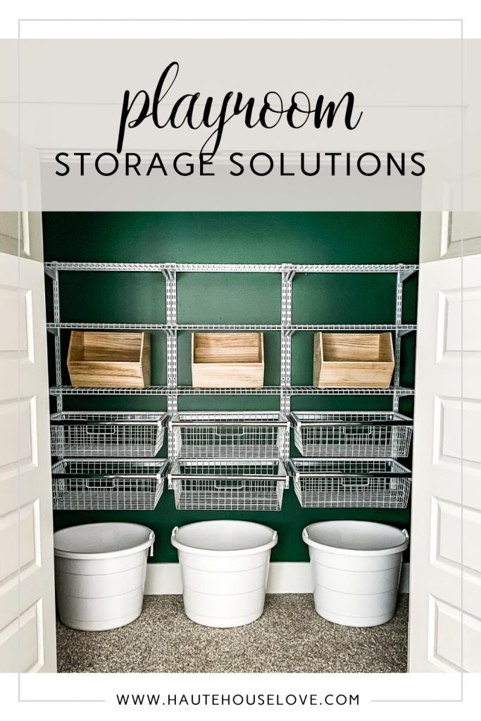 Closet Organization Ideas. Storage Solutions for a Playroom Closet.