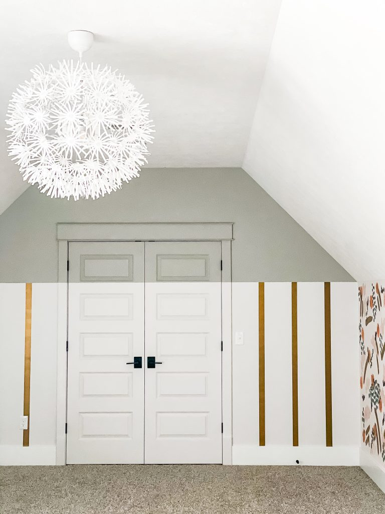 Playroom Design Ideas with Painted  Accent Wall