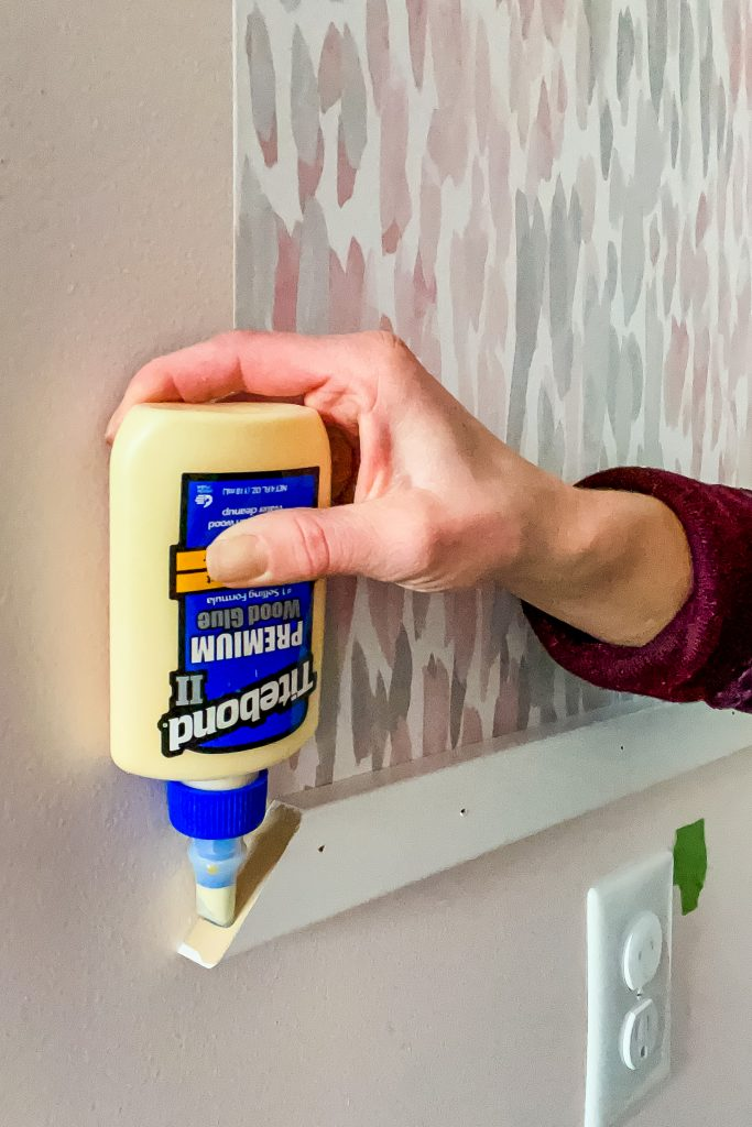Using Wood Glue for Corners | Hanging Wood Frame for Beginner DIY Projects on HauteHouseLove.com