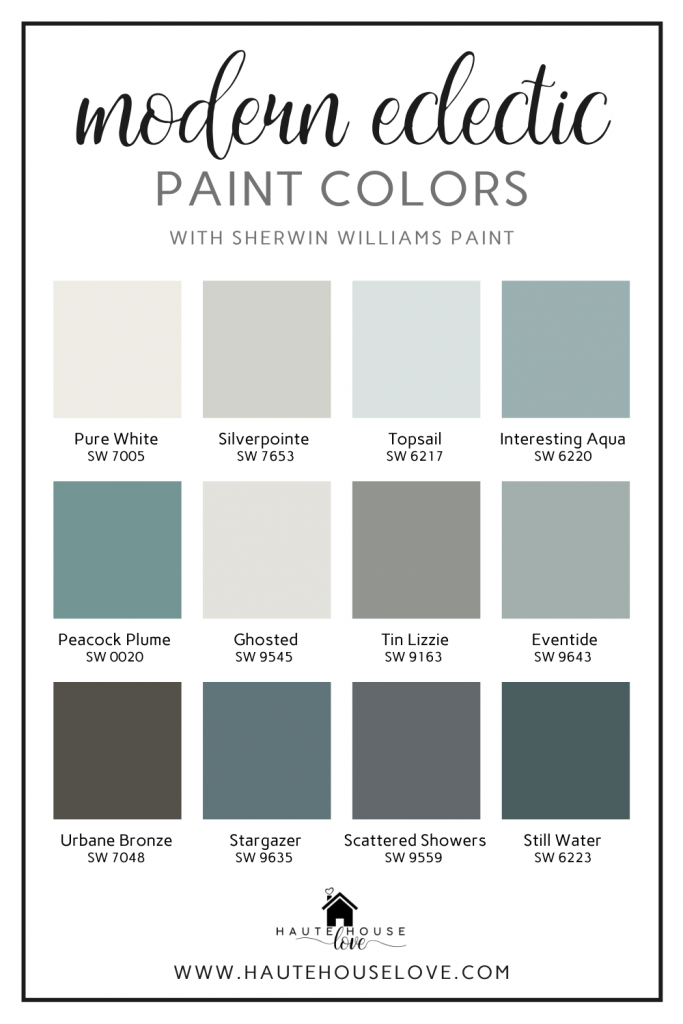 Modern Eclectic Paint Colors