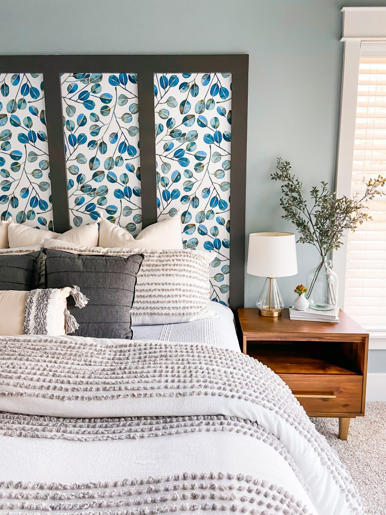 Master Bedroom With Faux Headboard