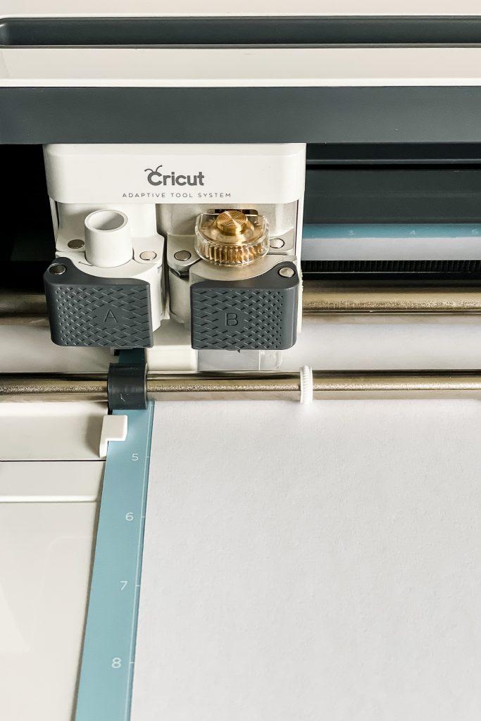 Closeup of the Cricut Maker blade holder