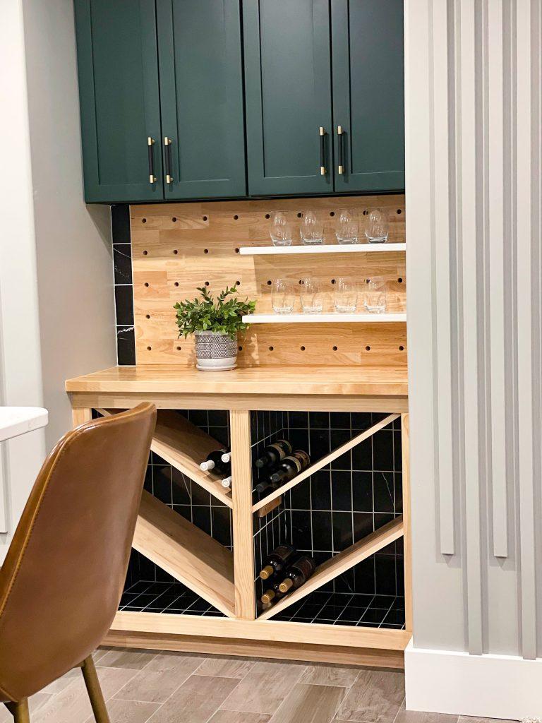 Basement Bar Wine Nook | HauteHouseLove.com