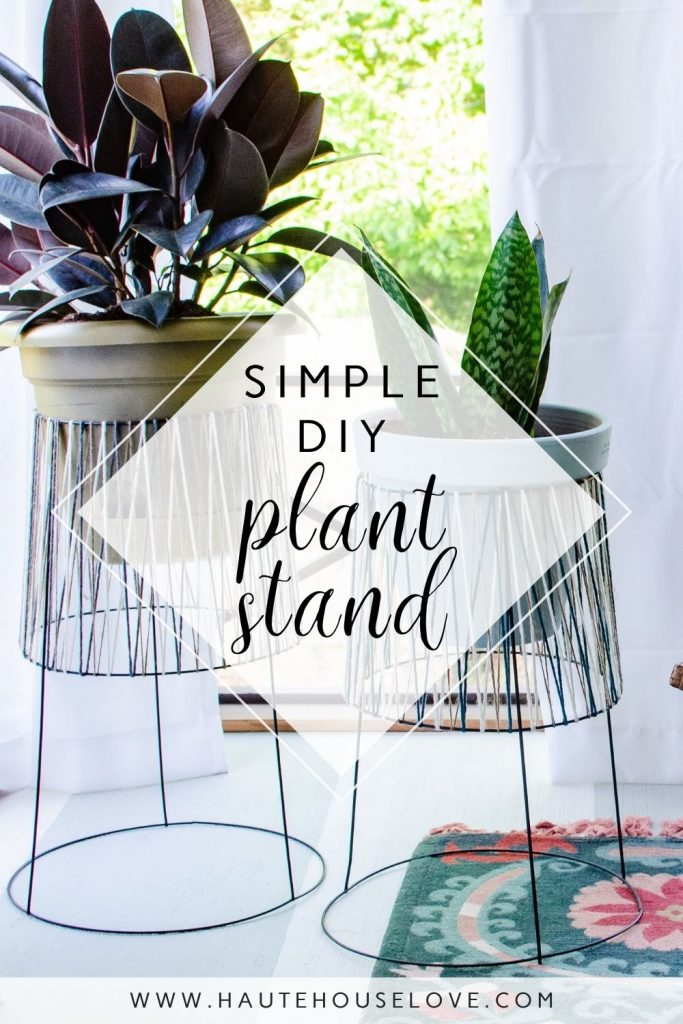 diy plant stand image with plant stands and house plants on porch