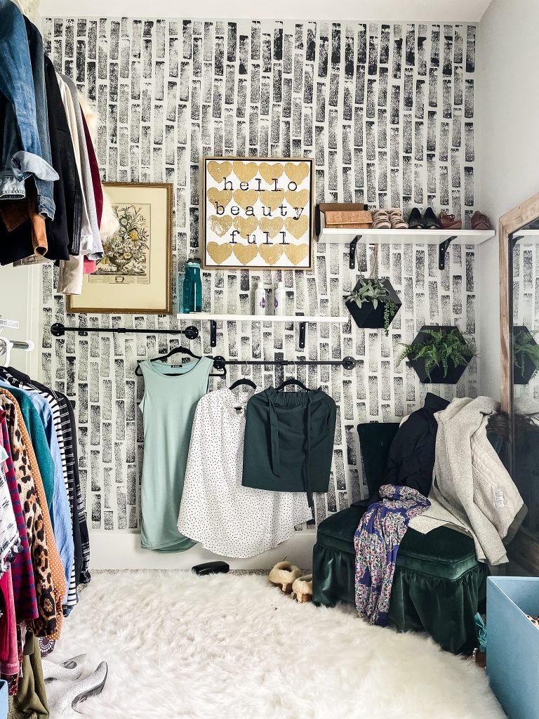 master closet accent wall