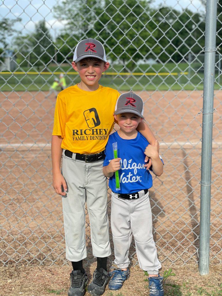 Brothers playing baseball, Proud baseball mom | HauteHouseLove.com
