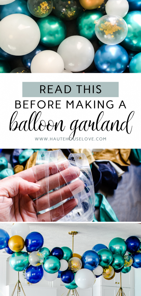 Read This Before Making a Balloon Garland | HauteHouseLove.com