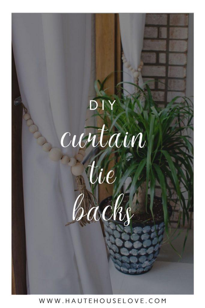 DIY Curtain Tie Backs on HauteHouseLove.com
