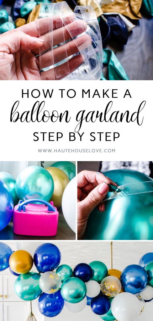 Step by Step Guide for How to Make a Balloon Garland | HauteHouseLove.com