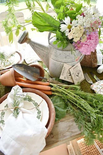 garden party table decor