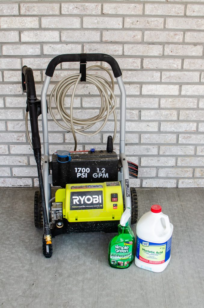 power washer for cleaning concrete porch