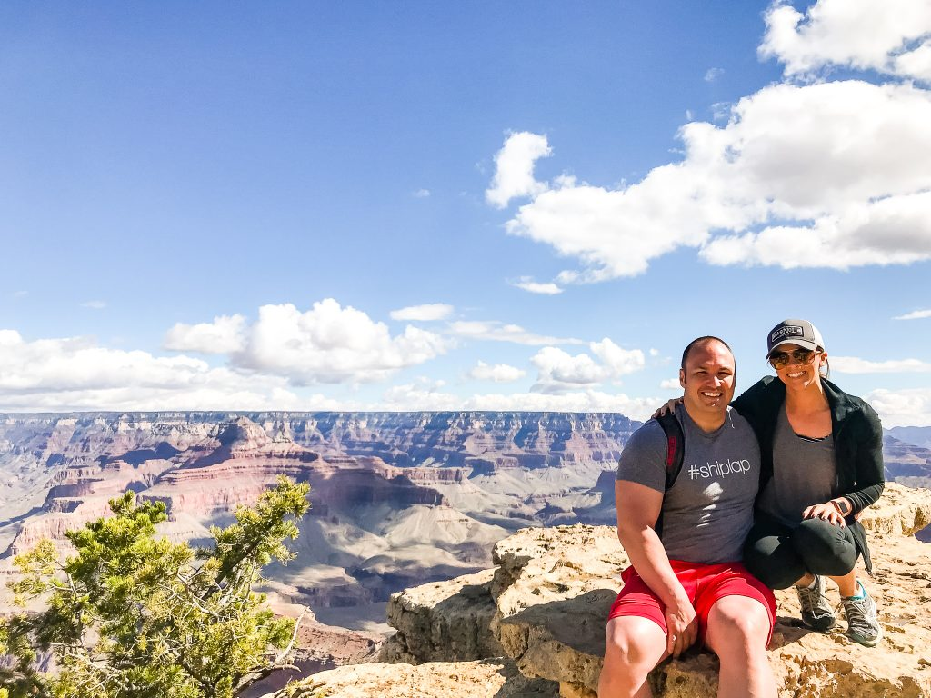 Kera Jeffers and her husband overlooking the Grand Canyon | Found on HauteHouseLove.com