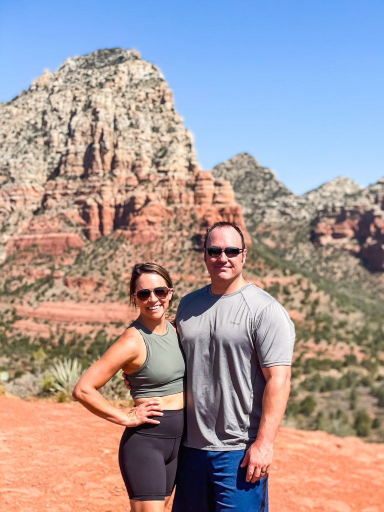 Kera Jeffers and her husband on a mountain in Sedona, Arizona   Found on HauteHouseLove.com