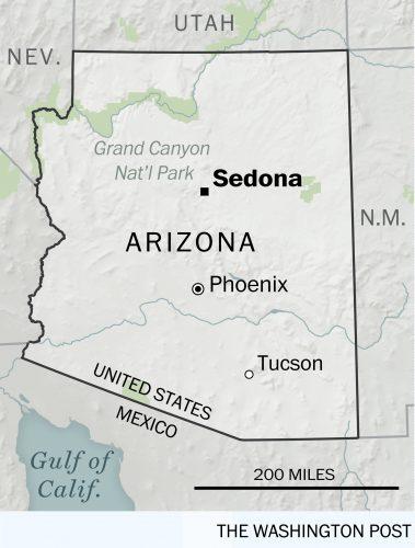 A map of Sedona, Arizona | Found on HauteHouseLove.com