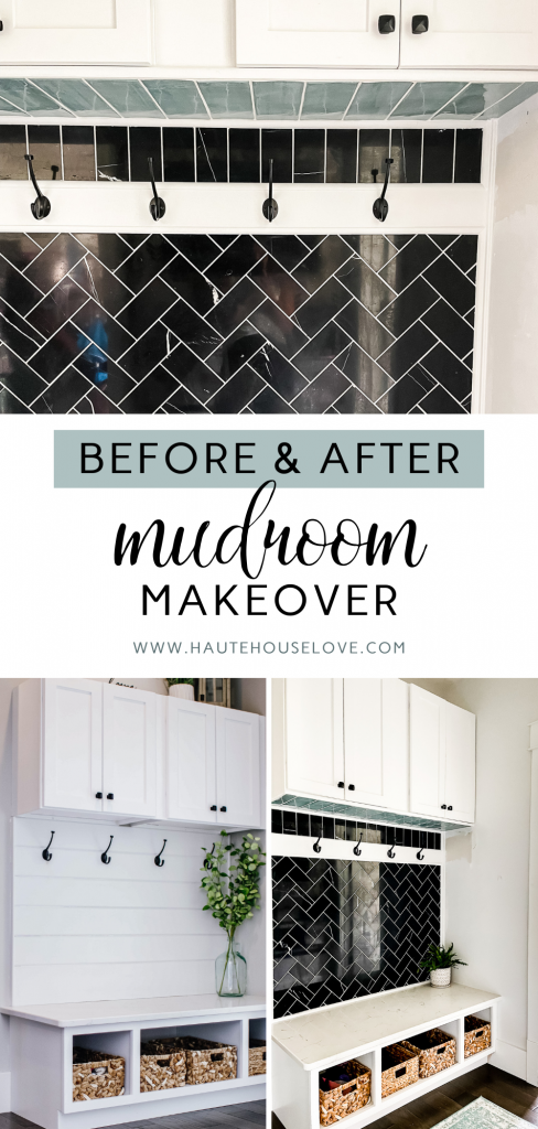 Before & After Mudroom Makeover on HauteHouseLove.com