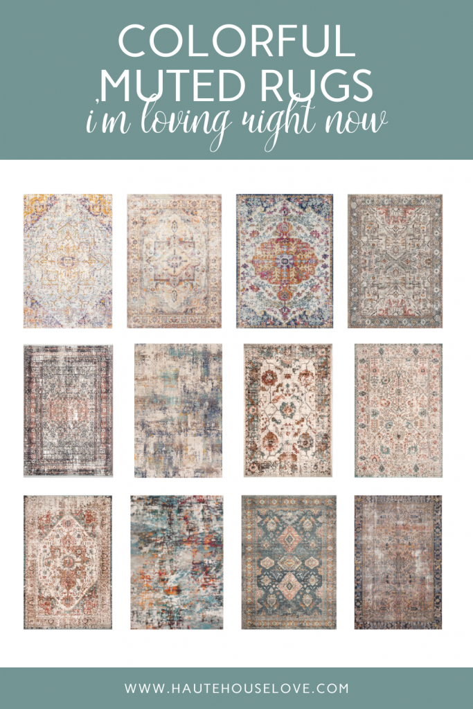 Colorful Muted Rugs I'm Loving Right Now | HauteHouseLove.com