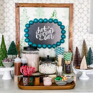 What is your favorite cocoa topping?? I bet we have you covered!!   Nothing brings more joy in the cold months than setting up this cocoa bar with the kiddos! This always starts the week before thanksgiving and lasts us far beyond the holiday season!   This year I teamed up with my good friend Erin @erinnicolestudio to create a custom hand-lettered cocoa bar sign and she made it into a digital download for YOU!!   Head over to @erinnicolestudio  to check out her winter collection that launched this week and grab yourself a hot cocoa bar sign!! You can use code HHL20 for 20% off your purchase!   https://www.erinnicolestudio.com/shopcollections/winter-collection/haute-house-love-collaboration