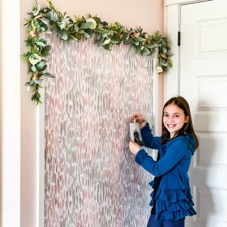 The photo accent wall is complete and my mini-me couldn't be more thrilled with her (better late than never) Christmas present.   This wall frame was our first of MANY simple building tutorials that I will be sharing this year to help you feel confident with doing easy woodworking projects in your home!   What should we build next, friends???  #doityourself #bohochicstyle #modernboho #doitherself #woodworking #woodworkingproject #swcolorlove #nuwallpaper #mykiddecor #girlsbedroomdecor #girlsbedroomideas #tweenstyle #myhomevibe #myhomestyle #peelandstickwallpaper #myhomethismonth #bohostyle